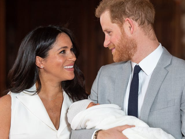 For Father's Day, the Duke and Duchess of Sussex Shared a Rare Glimpse of Baby Archie