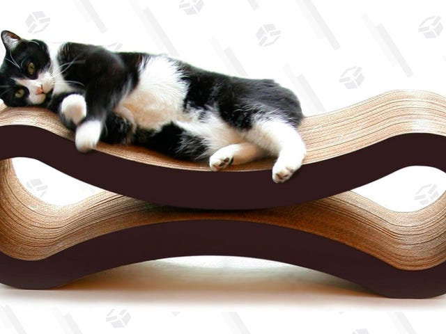 Grab A Very Rare Discount On This Highly-Rated Cat Scratch Lounger