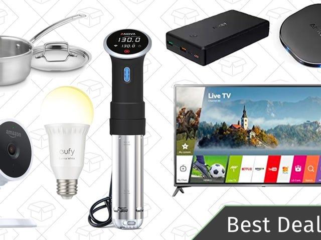 Monday's Best Deals: LG 4K TV, Sous Vide Circulator, Smart Light Bulbs, and More