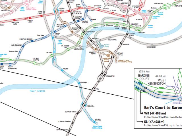 Bear Świadek Spaghetti Weirdness London's Real Tube Map