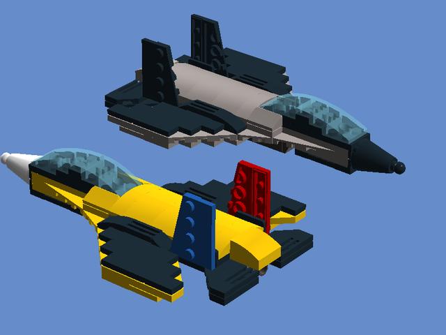 I made a jet fighter in LEGO Digital Designer
