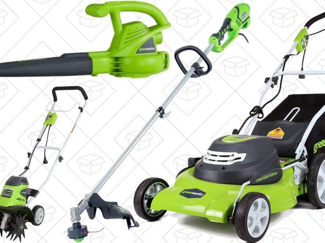 Trim, Clean, and Even Till Your Lawn With Today's GreenWorks Gold Box Deals