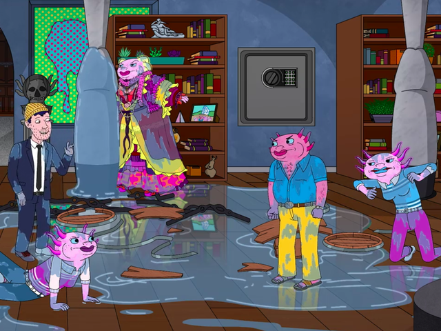 Go out on a date in BoJack Horseman, where everything's funny until it's suddenly not