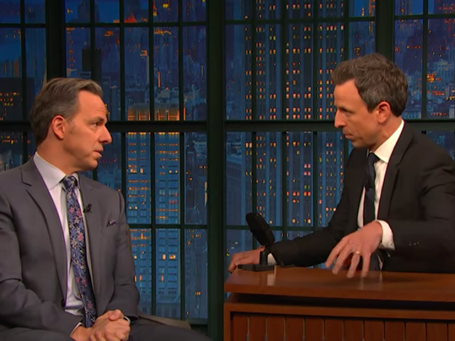 Seth Meyers asks Jake Tapper about how low the bar really is for Trump at this point