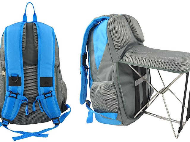 The Perfect Backpack for Lazy People Ensures You'll Always Have a Place to Sit