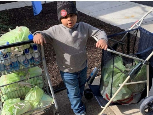 What Were You Doing When You Were Seven? This Kid Was Spending $600 on Food and Care Packages for People Put Out by Coronavirus Pandemic