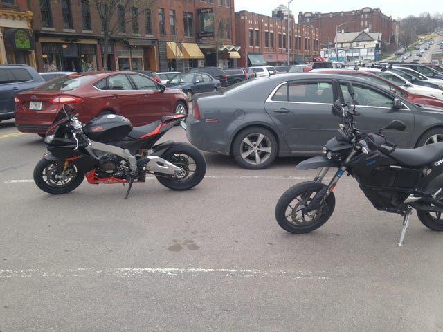 I parked next to a race bike