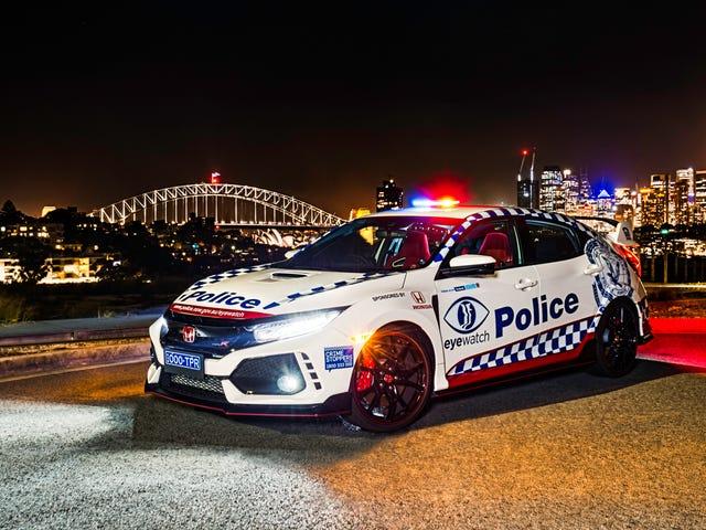 Ένα Honda Civic Type R συνδέεται με την Αυστραλιανή Αστυνομική Δύναμη, αλλά όχι για να κυνηγήσει τον εαυτό σας με τον εαυτό του