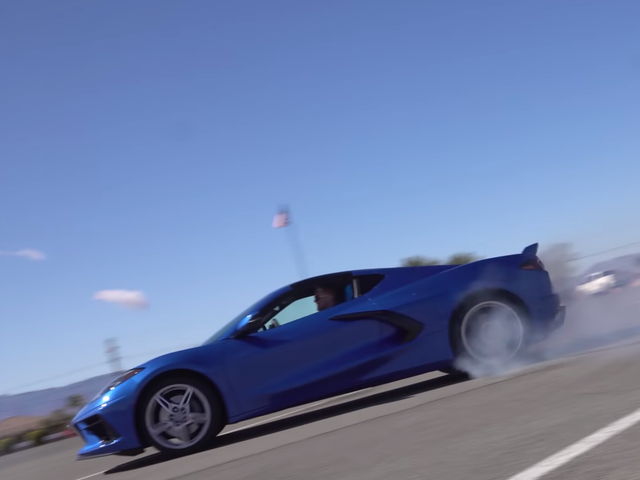 Bless Your Timeline With The 2020 Corvette Doing Donuts