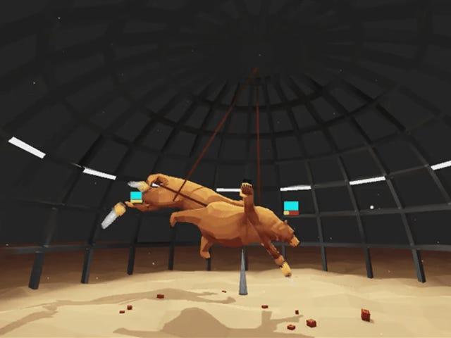 <i>Thunderdome</i> एक गेम है जहाँ आप एक फ्लाइंग चेनसावा भालू के रूप में खेलते हैं