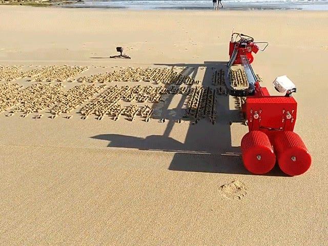 Esta impresora automatizada de arena está lista para inundar su feed de Instagram con propuestas de bodas en la playa
