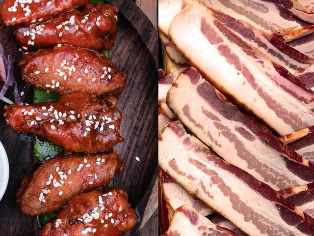 Butcher Box Dice el infierno con eso, ofrece tres libras de alitas de pollo gratis, tocino gratis y un descuento de $ 20