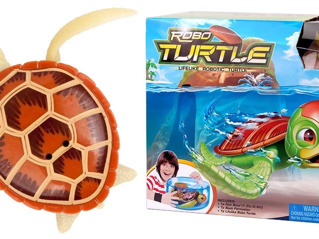 Når denne walking, swimming Pet Turtle Dies, Skift bare i et nyt batteri