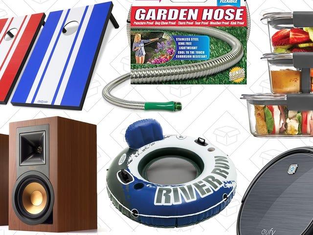 Najlepsze oferty w sobotę: Gry na trawniku, głośniki z półkami na książki, Anker RoboVac i inne