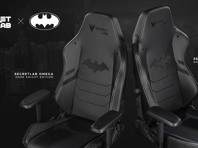 Comfy gaming chair maker SecretLab is making chairs based on Batman, a superhero with a literal secr