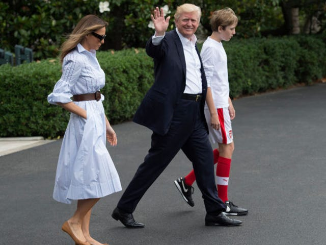 Father Of Future American Wonderteen Barron Trump Tries To Threaten His Way To A North American World Cup