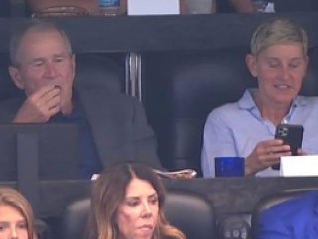 Ellen DeGeneres responds to viral clip of her yukking it up with George W. Bush