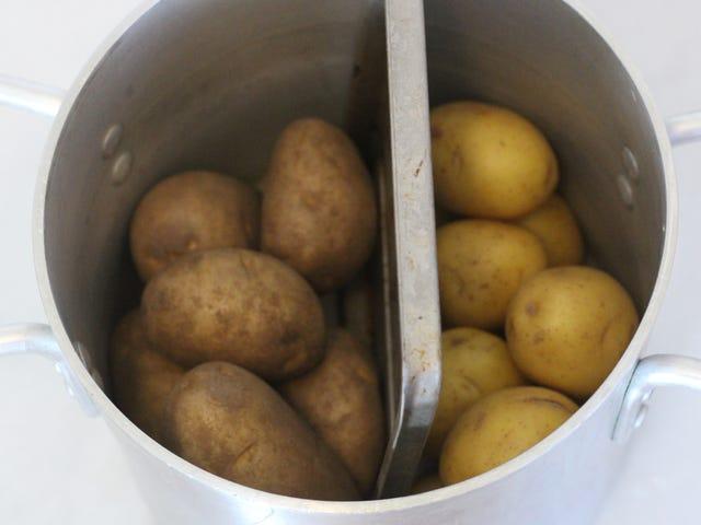 Разделите большой горшок, чтобы приготовить два овоща одновременно