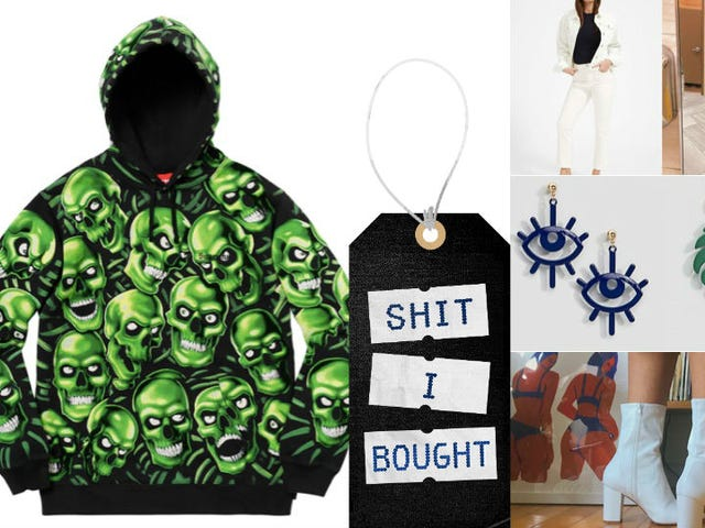 Springy Florals, Cute Boots, and the Juicy J 'Stay Fly' Skull Sweatshirt from Supreme