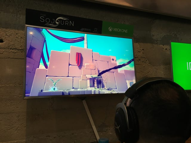 Just checked out a puzzle game called The Sojourn at an Xbox event at GDC. Really neat Portal-style game in which you swap places…