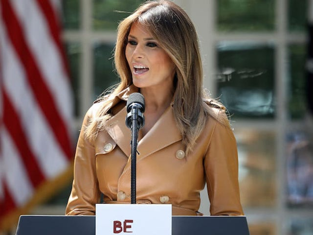 Melania Trump Unveils Empty New Initiative, Wants Children to 'Be Best'
