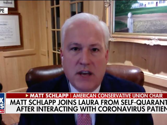 """CPAC Organizer forteller alle å """"roe seg ned"""" via Skype fra Coronavirus karantene"""