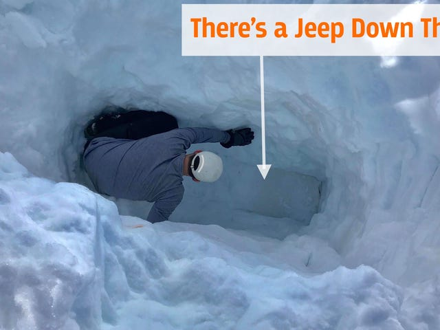A Tesla Engineer's Jeep Ended Up Under 10 Feet of Snow for Months and It's Still There