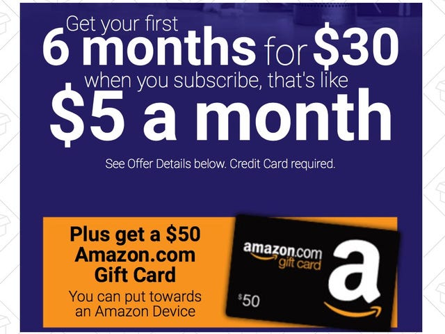 Free Money Alert - Get Six Months of Satellite Radio For $30, Plus a $50 Amazon Gift Card