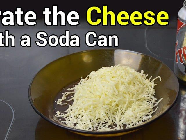 Tehdä improvisoitua juustohiekkaa pois soodakannasta