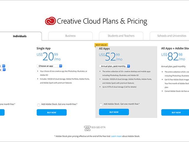 Το Adobe βιδώνει με το φτηνότερο του πρόγραμμα λογισμικού στον τρόπο Scummiest