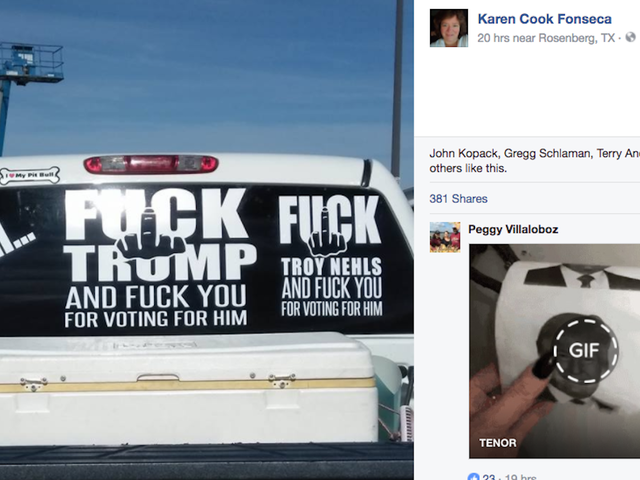Woman Targeted By Sheriff For 'Fuck Trump' Decal Says Fuck That Guy, Too