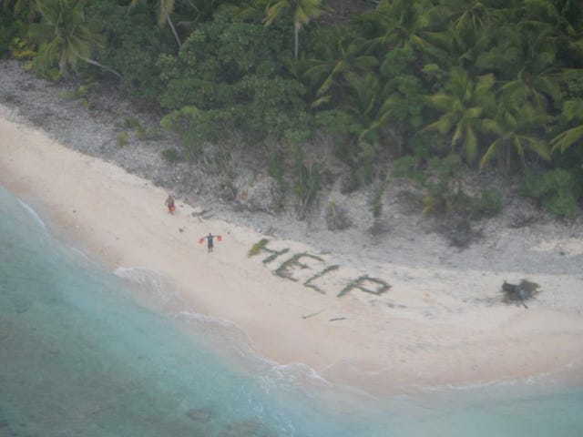 Navy P-8 Poseidon Locates Castaways On A Deserted Island In The Pacific