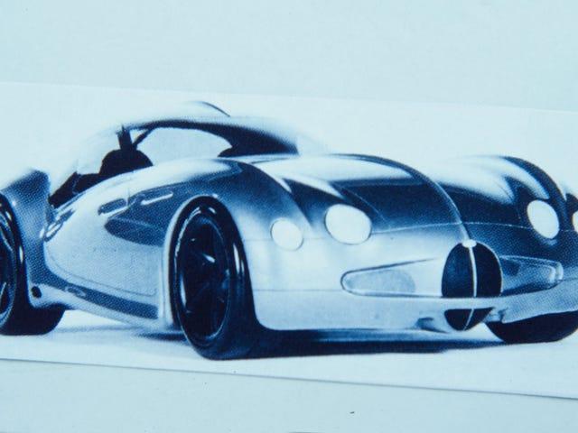 1994 I.A.D. Bugatti Atlantic - Sketches and Models