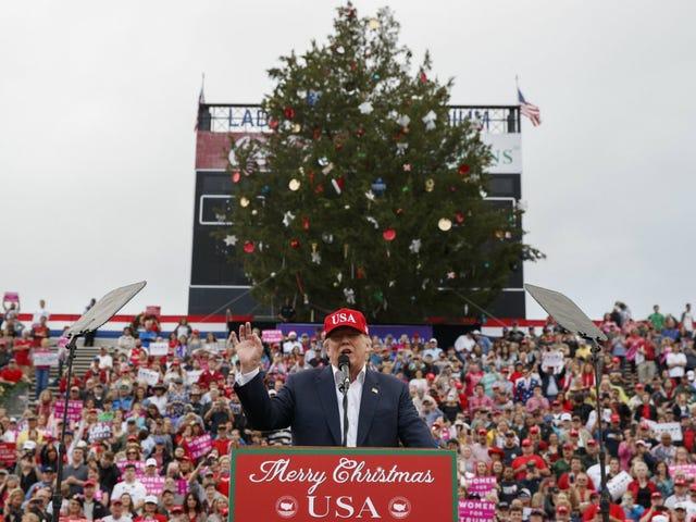 Chính quyền thành phố Alabama cắt giảm cây tăng trưởng cũ trong công viên công cộng để làm cho một cuộc biểu tình Trump Giáng sinh-y