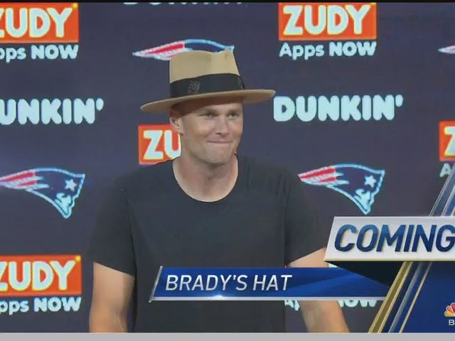 Check Out Tom Brady And His Stupid Hat