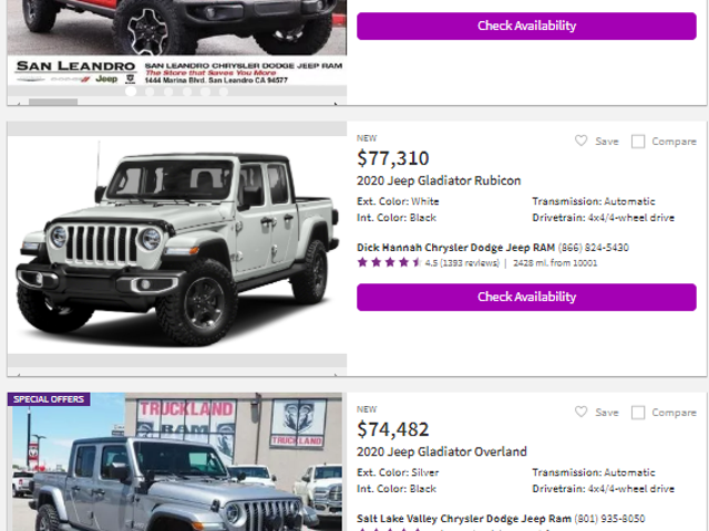 Car & Driver: Jeep Gladiator Prices Are Soaring As Some Dealers Add Markups of up to $20,000