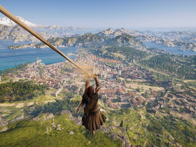 I Hit Assassin's Creed Odyssey's Original Level Cap Before Seeing Half The Map
