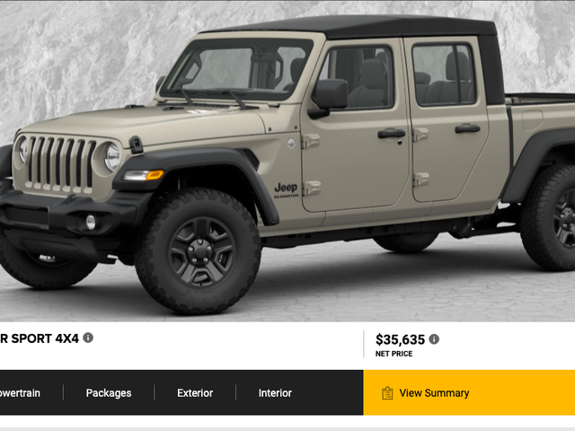 The 2020 Jeep Gladiator's 'Build & Price' Configurator Is Live—Here's the Truck I Would Buy