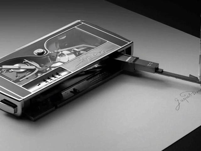 Voor $ 367,500 bespaart deze Clockwork-machine u het gedoe van het schrijven van uw eigen naam