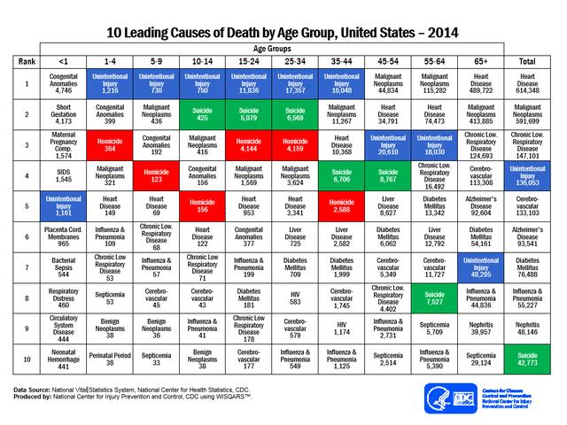 Dieses Diagramm zeigt Ihnen, wie Sie wahrscheinlich sterben werden