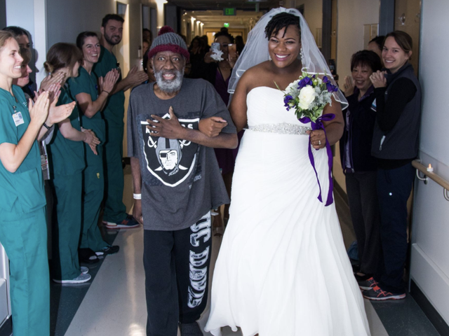 Bride Holds Surprise Wedding at Hospital Where Father Is Being Treated for Leukemia