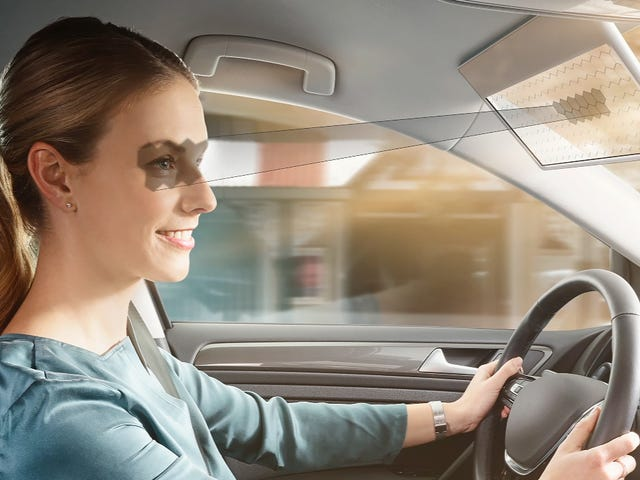 Bosch's LCD Car Visor Only Blocks Your View of the Road Where the Sun Is In Your Eyes