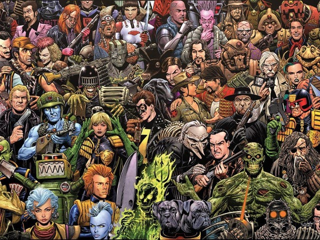 Celebrating the art of 2000AD