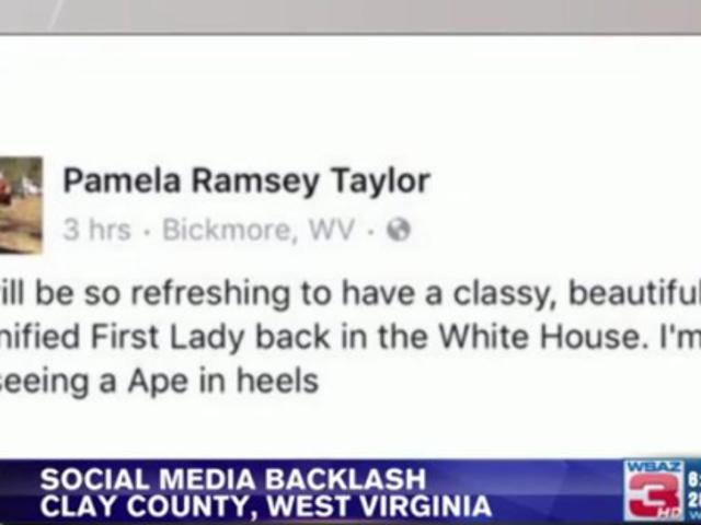 W.Va. Woman Who Call di Michelle Obama 'Ape in Heels' Fired