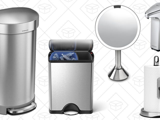 Grab Rare Discounts on Highly-Rated simplehuman Trash Cans and Home Essentials