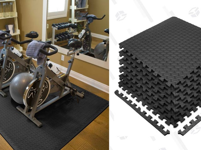 Pad The Floor Of Your Home Gym With These Discounted Floor Tiles