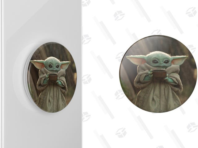 Get a Baby Yoda Sipping Soup Pop Socket For 50% Off