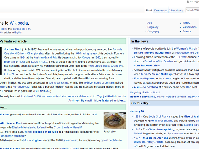 Hey, Jochen Rindt made the Wikipedia front pa- OH WTF?!?!?!