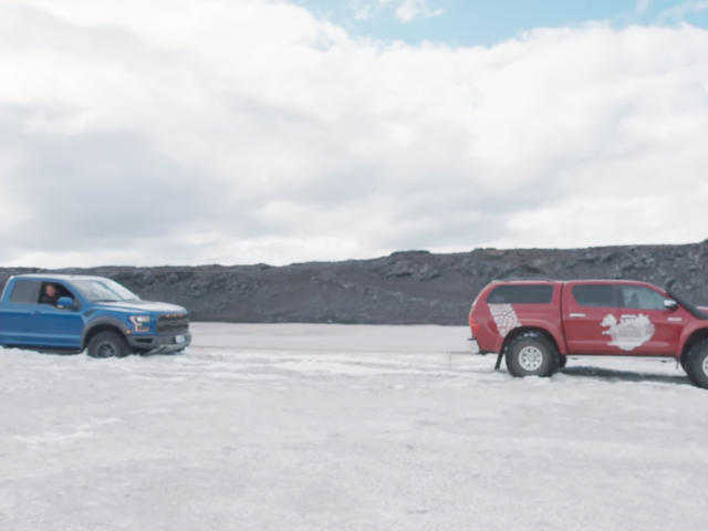 It Takes A Special Sort Of Driver To Get A Ford Raptor Stuck On Ice