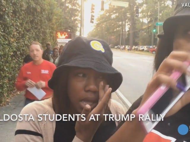 Des étudiants noirs chassés du rassemblement Donald Trump à Valdosta, en Géorgie
